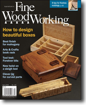 Doug's boxes on cover of Fine Woodworking